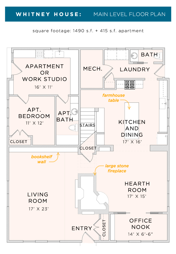 whitney first floor plan