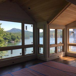 Exciting progress at this lake home remodel! allardandrobertsinteriordesign lakelure viewshellip