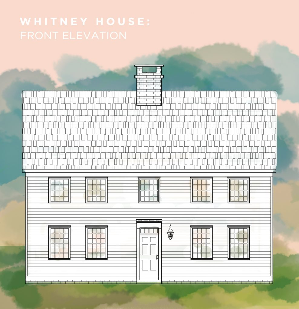Whitney House. The Exterior Elevations.
