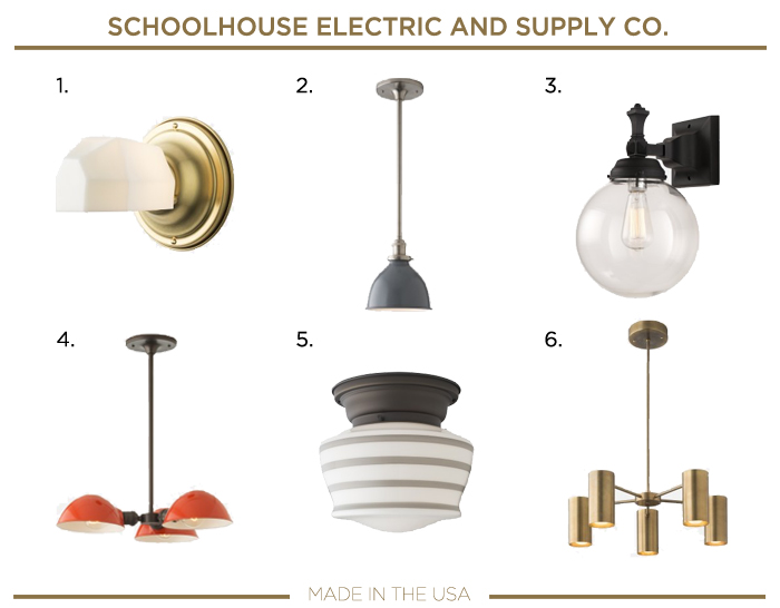 Made in the USA LIGHTING fixtures_SCHOOLHOUSE ELECTRIC