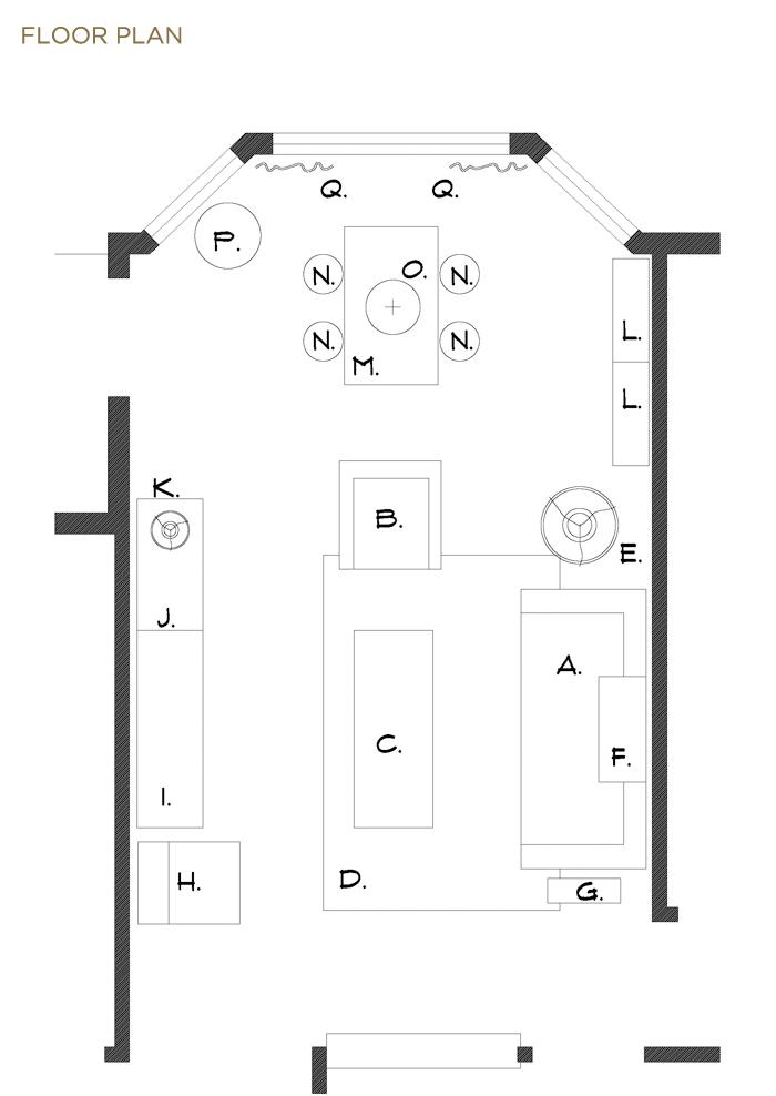evan's apartment_keyed furniture plan copy