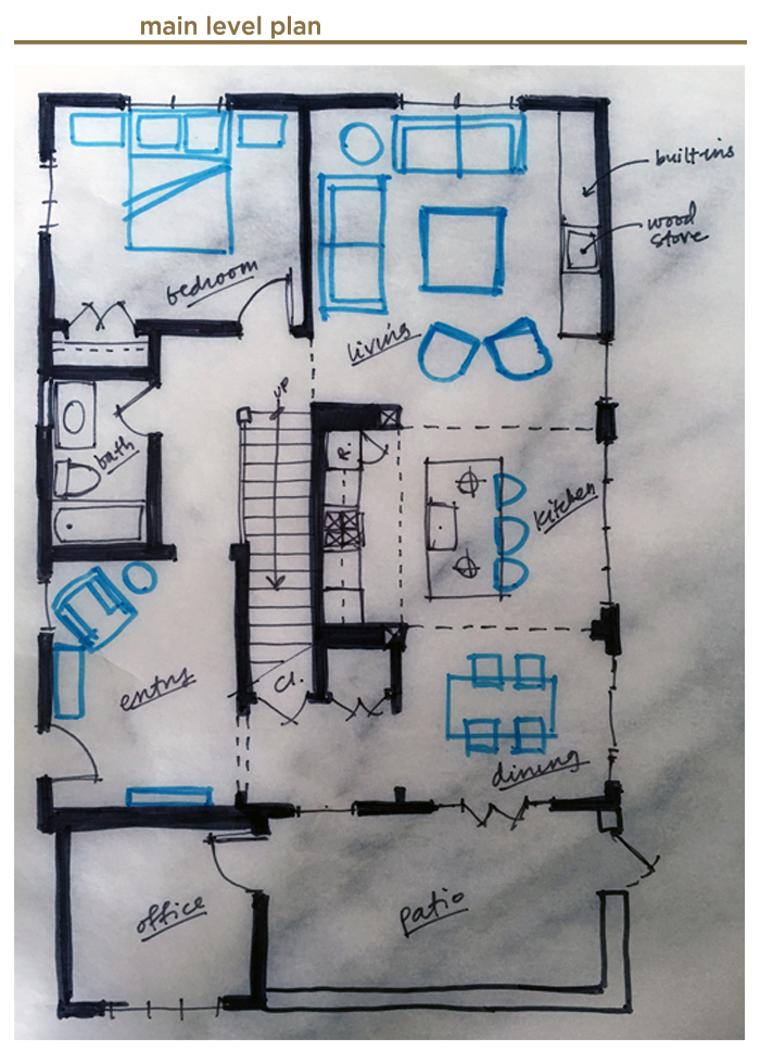 main level floor Plan for Jack's House
