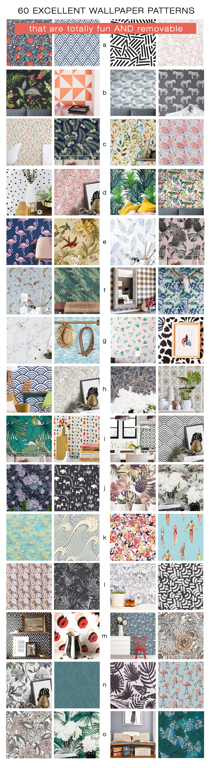 60 Excellent Wallpaper Patterns that are totally fun and removable