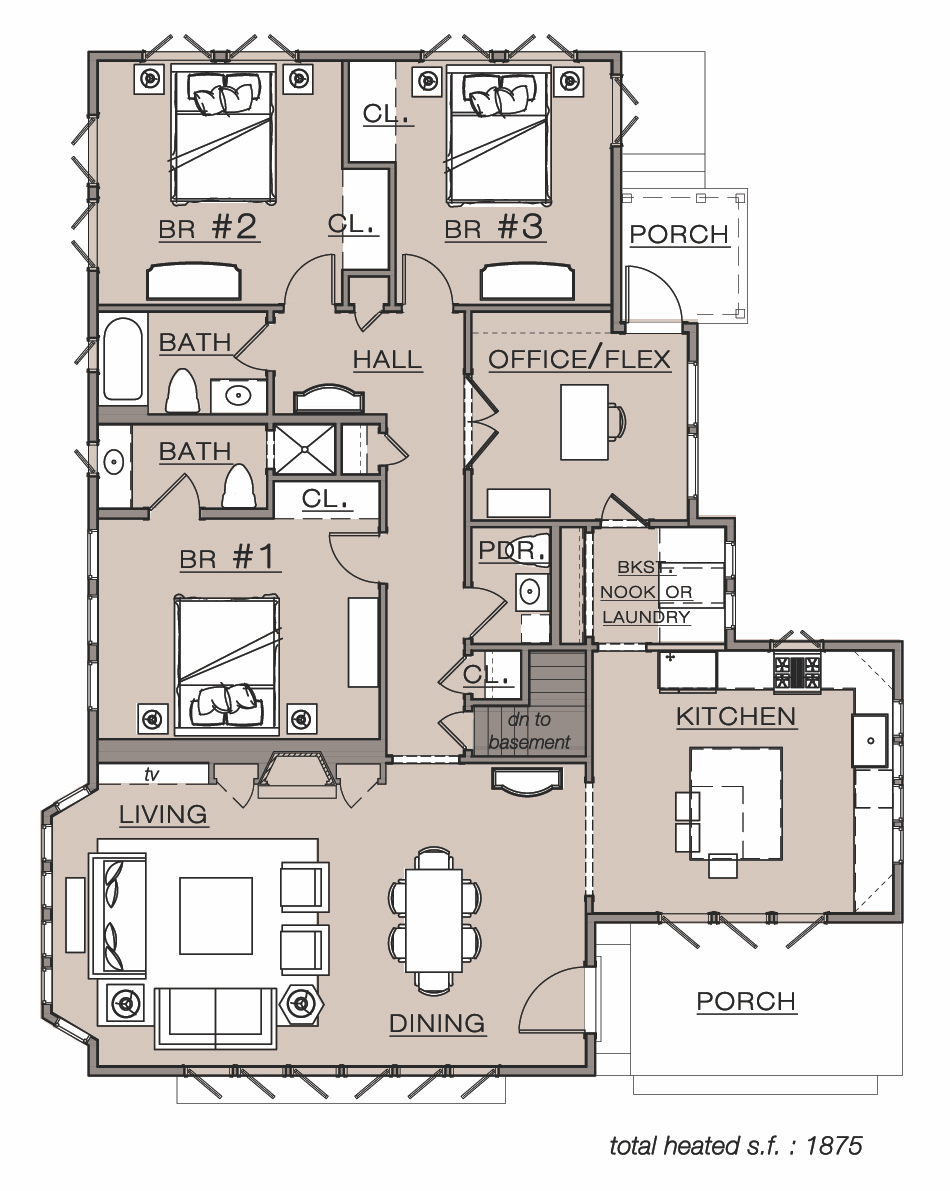 a new take on an old house plan for today u0027s lifestyle a floor