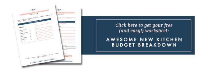 kitchen budget worksheet