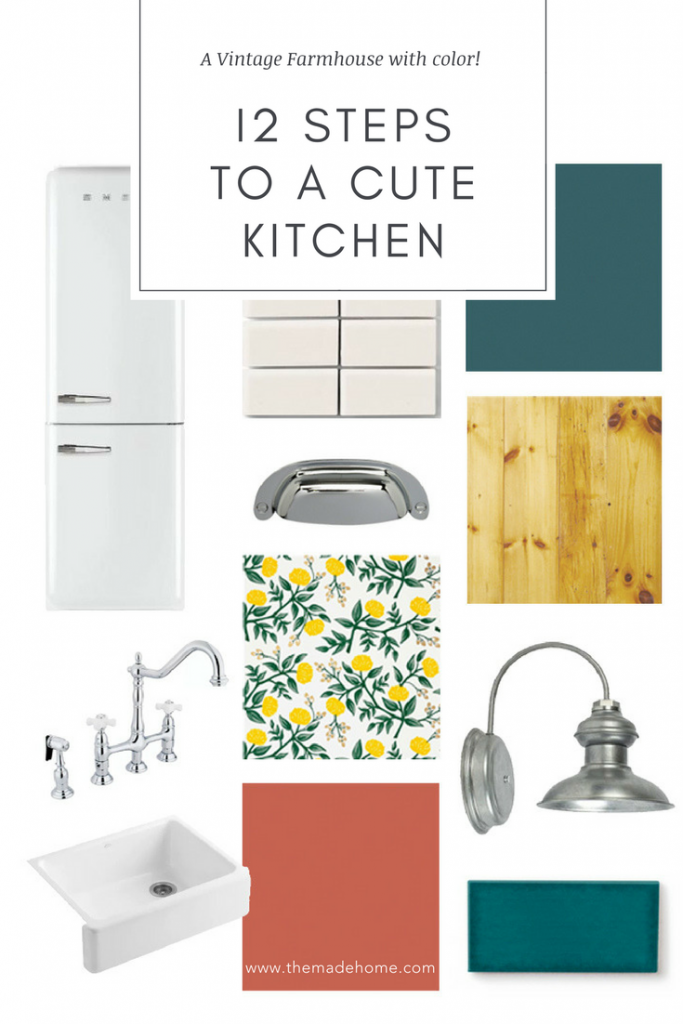 12 Steps to a Cute Vintage Farmhouse Kitchen