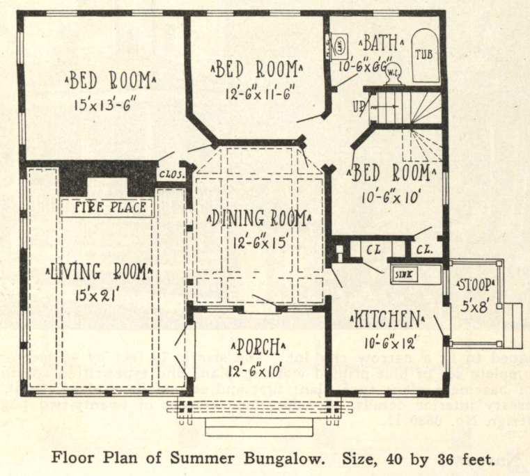Radford floor plan of Summer Bungalow