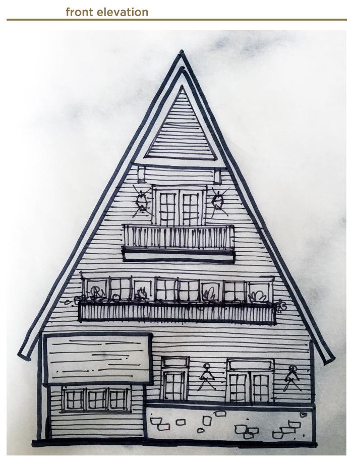 front elevation for Jack's House