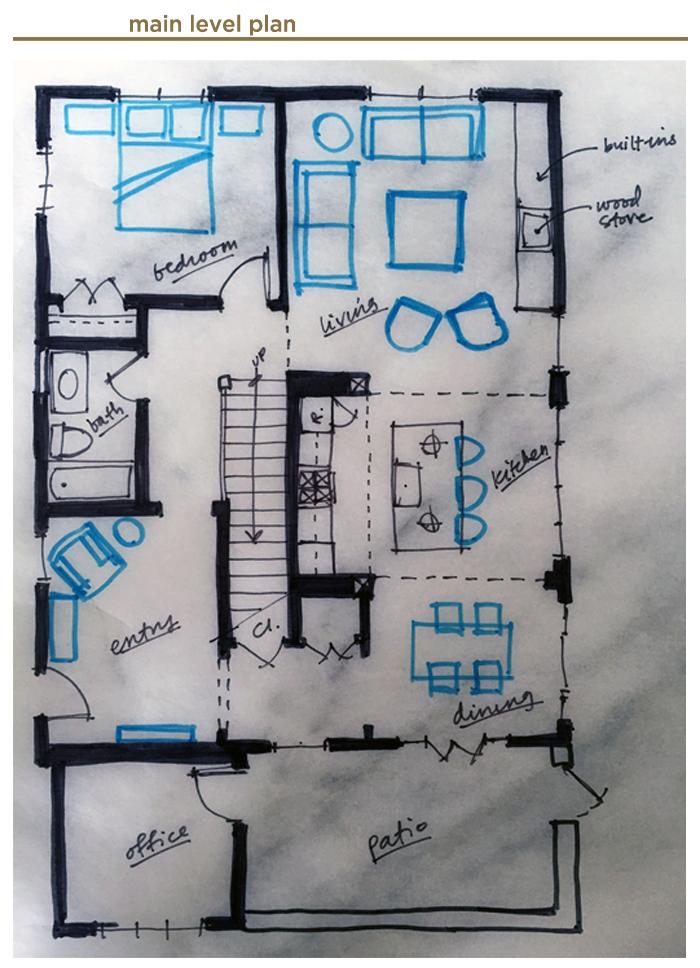 main level floor Plan for Jack's House
