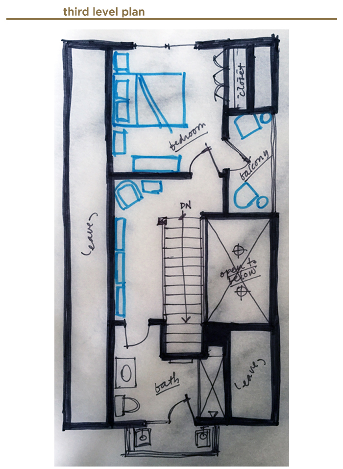 third level floor Plan for Jack's House