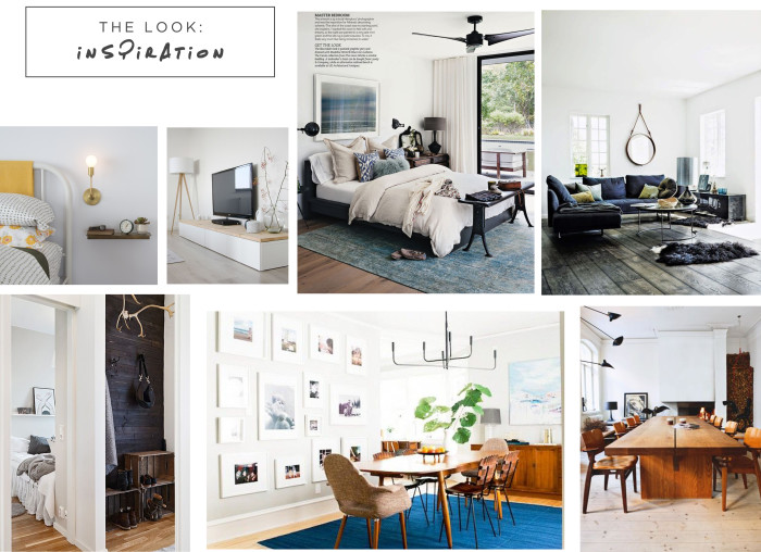 Ideas for interior design using style inspiration from Emily Henderson, Industrial, Rustic, and School House Electric.